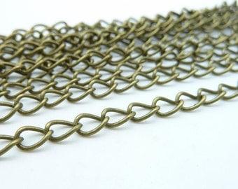 5meters  4.2mm Antique Bronze Brass  Iron Chain E1039  (extender chains un-open)