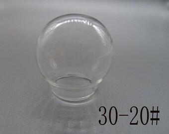 4pcs of 30mm  Clear Glass Globe/ Glass Bottle/ Glass Bulbs/ Glass Domes  N111