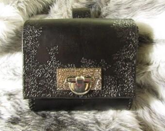 In-Stock Floral Belt Bag, Belt Pouch Medium, Leather Bag, LARP, SCA, Costume, Ren Faire, Clearance