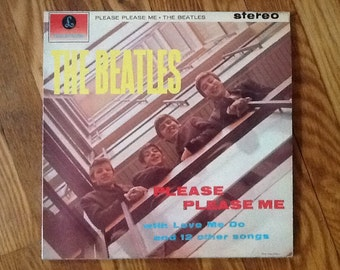 The Beatles Album Please Please Me Stereo LP Parlophone Rare Record