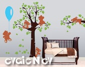 Teddy Bears Wall Decals - Nursery Wall Decals, Baby Nursery Decal and Baby Nursery Wall Sticker -  PLTBRS030 - CHECK OUR SUMMER Deals!!!