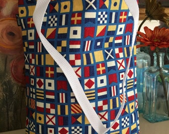 Reversible Nautical tote