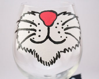 Cat wine glass, crazy cat lady, hand painted wine glass, cat lover glass, i love cats, kitty wine, fun wine glass, funny glass