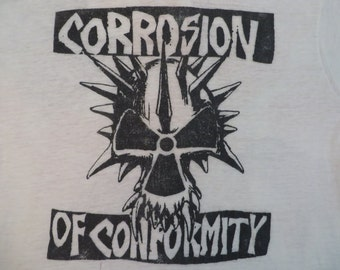 CORROSION Of CONFORMITY 80s paper thin burnout TSHIRT