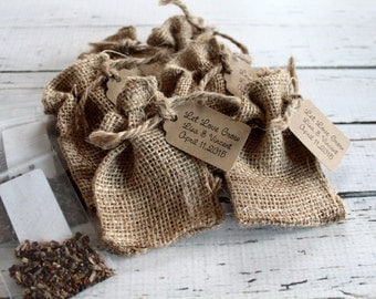 Burlap WILDFLOWER Seed Sack - Personalized