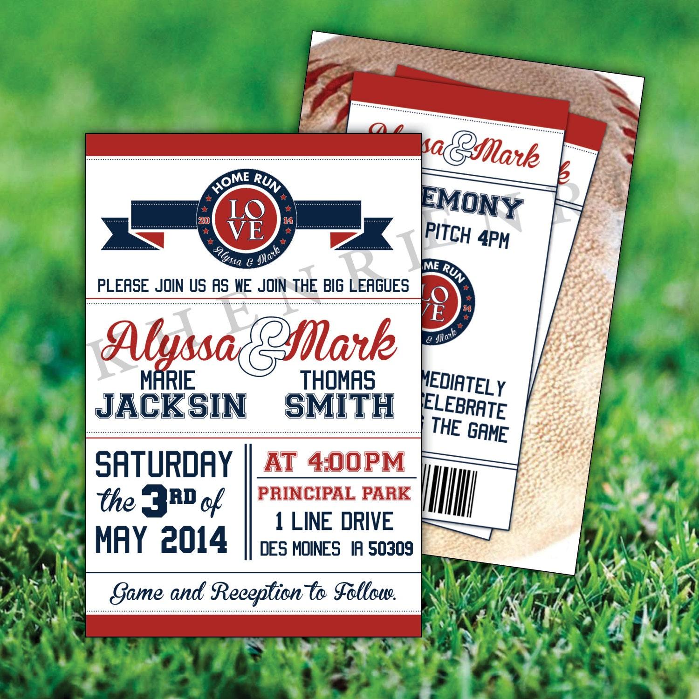 zoom - Baseball Wedding Invitations