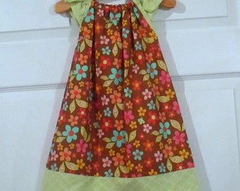 Peasant Style Butterfly dress - Khloe country flowers - 18 Months - Ready to ship