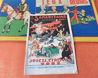 "Vintage  1931 French Christmas ""Etrennes"" Toys   Catalog  General Store "" La  SAMARITAINE""  Paris"