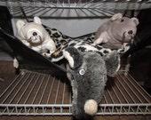 "Large (15""x17"") Double Layered Hammock, Ferrets, Rabbits, Chinchillas, Guinea Pigs, Rats, Cats, Dogs, Raccoon's, Cheetah Fleece"