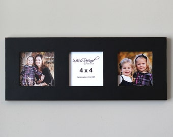 Multiple opening frame with 3 - 4x4 openings - Black or White, Free Shipping