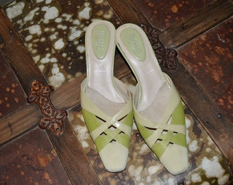 Vintage Leather Shoe  Nickles- Leather Suede Classic 9 Shoe Perfect -Spring-Summer
