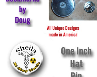 X-Ray Technician Pin Personalized  Graphics on your Choice of Items.