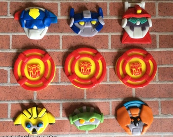 EDIBLE (Fondant Toppers) - Rescue Bot Inspired