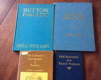 Four Vintage Books on Buttons