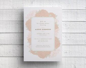 Pink Floral Bridal Shower Invitation, Spring Shower, Wedding Shower, Pink Bridal Shower, Pink Floral, Invitation Template, PDF, JPEG