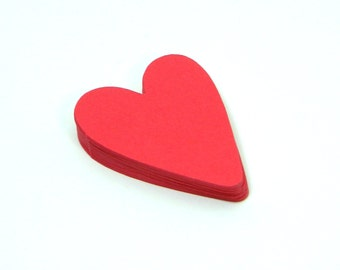 Red Paper Hearts - Heart Die Cut - Red Hearts