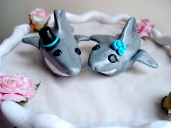 Shark Cake Toppers Wedding Cake Topper Cake by MagicalGifties