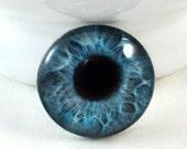 30mm Blue Mermiad Glass Eye For Sale for Pendant Jewelry Making or Taxidermy Fantasy Doll Eyeball Flatback Circle