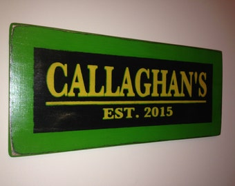 Custom Surname Pub Sign with Est. Date