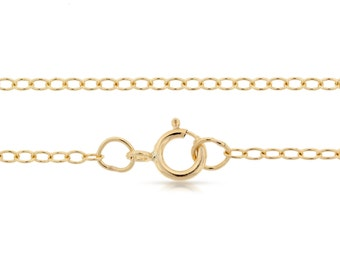 Finished Chains with spring ring clasp 14Kt Gold Filled 2x1.6mm 18 Inch Cable Chain - 1pc (2794)/1