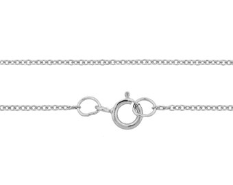 Sterling Silver 1.2mm 18Inch Cable Chain Small and Strong links - 1pc Delicate look Petite Cable Chain (3338)/1