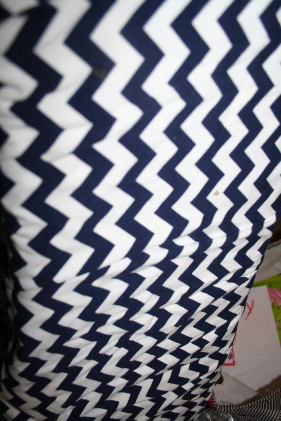 Navy Chevron Fabric - Riley Blake Fabric - Riley Blake Navy Chevron Fabric - Small Chevron Fabric Supplies - Chevron Print Sold by 1/2 Yard