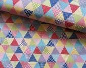 Japanese Fabric Cotton Yuwa -Triangle Patches - a yard