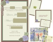 Custom DIY Printable Wedding Invitation Set with 3 Items - Invitations, Save the Date, RSVP or Thank You Cards