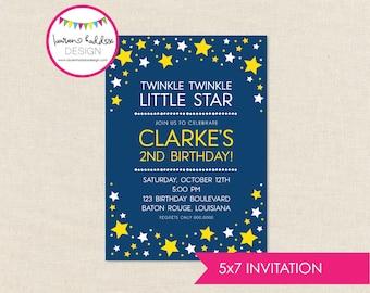 Twinkle Twinkle Birthday, Twinkle Twinkle Birthday Invitation, Little Star Printables, Star Birthday Decorations, Lauren Haddox Designs
