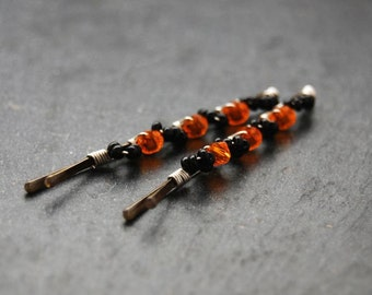 Halloween Bobby Pins ,Wire Wrapped, Hair Accessory, Fashion LoveandCherish