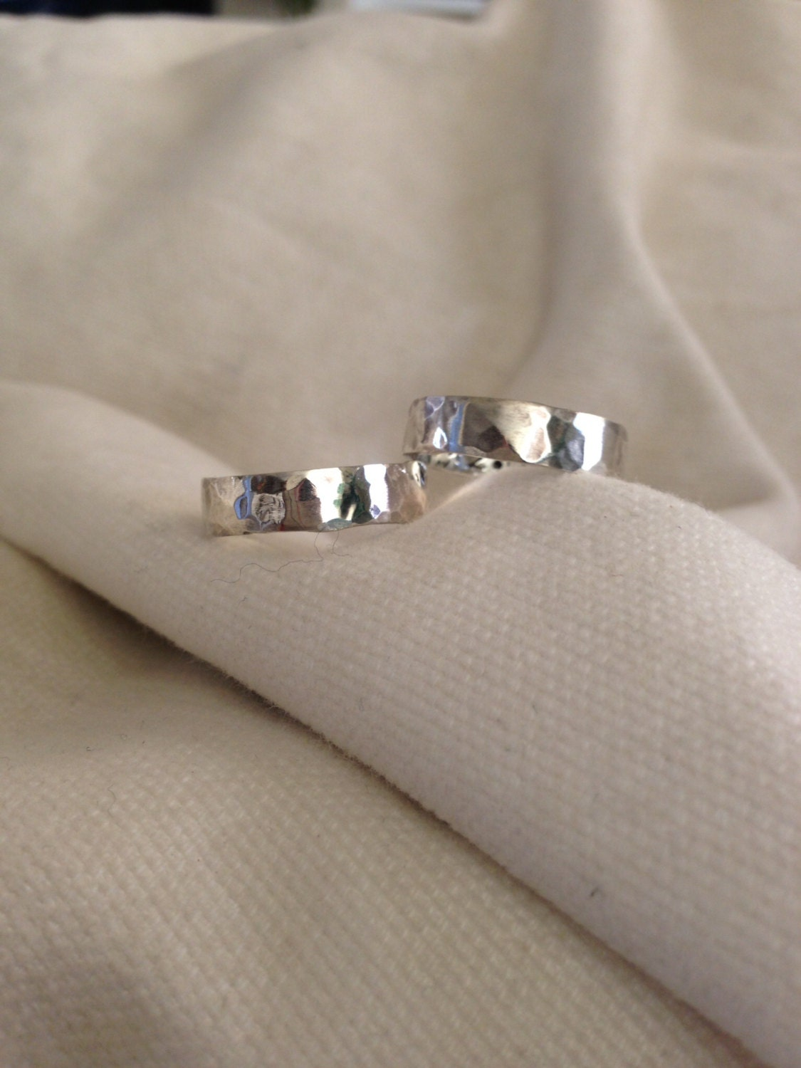 His Hers Sterling Silver Personalized 5mm Ring Band Secret Message
