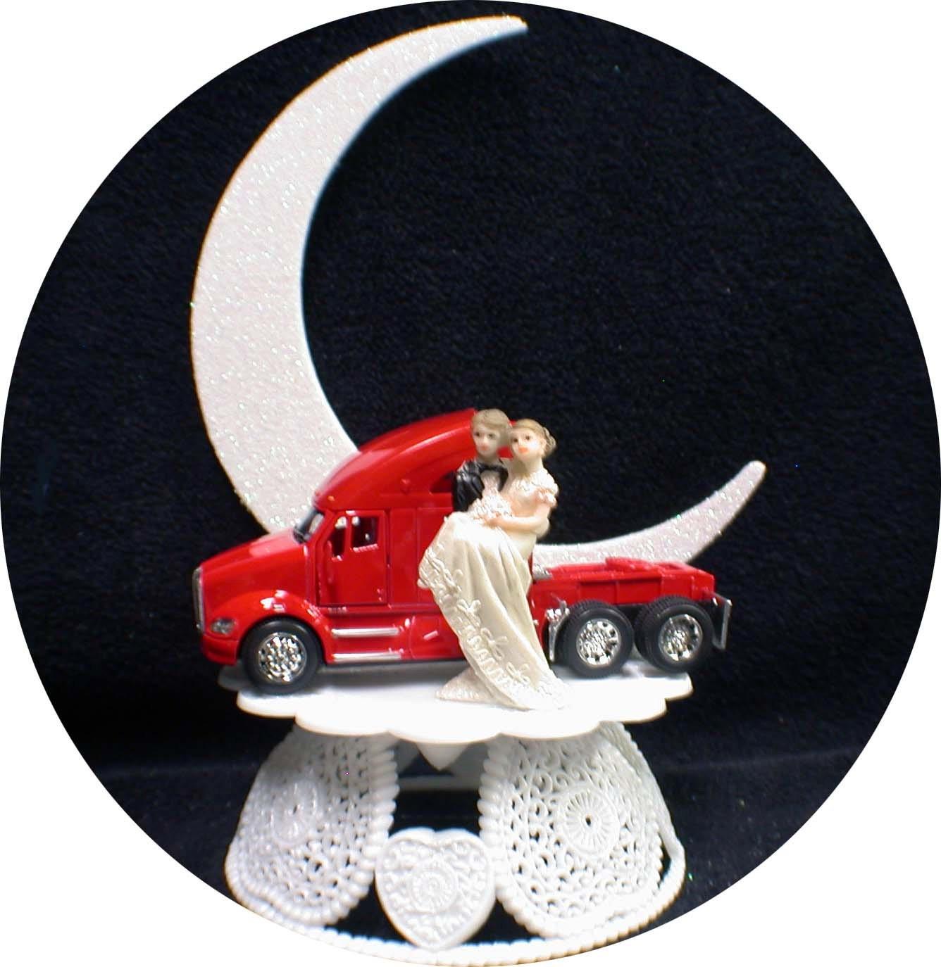 Kenworth Trucker Truck WEDDING groom CAKE top TOPPER