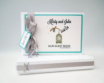 Vintage Birdcage Wedding Guest Book