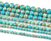One Strand (About 15inches ) 6mm 8mm 10mm Round Imperial Jasper Gemstone Loose Beads
