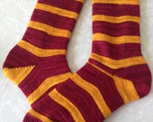 Gryffindor House Socks : Lion Pride Quidditch Wool Socks - Custom Size