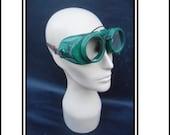 Vintage NIB Green Safety Goggles 1