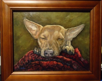 Custom Dog Art 8x10 Custom Pet Portrait Painting of your Dog