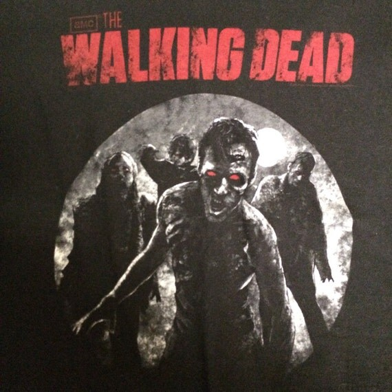 red eyed zombie walking dead t-shirt