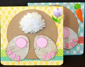 Three Easter Cards, Bunny Butt, Cute Bunny Face, Guilty Bunny, SVG Cutting File Kit