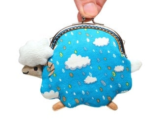 Raining tears little lamb clutch purse
