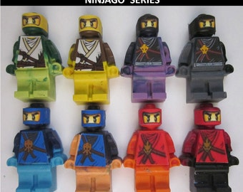 Party Favors Ninja Ninjago Party Favors - Crayons Mini figures - 24/set Can be Personalized