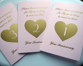 Personalized Wedding Notebooks, Guest Book Alternative, Wedding Table Number Books