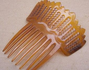 Antique Hair Comb Victorian Spanish Mantilla Steer Horn Hair Accessory Hair Pin Hair Pick Hair Piece Hair Jewelry Hair Ornament Headdress