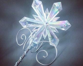 Crystal Ice Queen Sceptre - Frozen Costume Elsa Snow Queen Wand - Made to Order