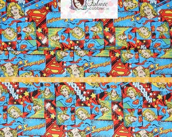 Camelot Cottons. Girl Power II. Super Woman - Cotton Fabric - Choose your cut
