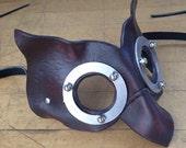 Owl mask LYRIC. Leather wearable art.