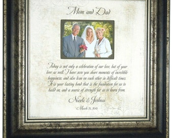 Personalized Wedding Gift For Parents, Today Is Not Only A Celebration Of Our Love But Of Your Love As Well, Parents Thank You Gift, 16 X 16