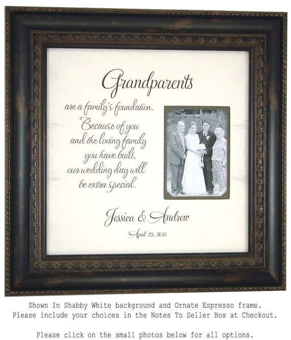 Thank You Wording For Wedding Gifts: Grandparents Print Photo Frame Thank You By