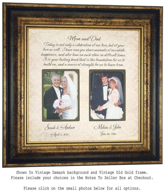Parents Thank You Wedding Frame Today Is A By PhotoFrameOriginals
