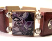 Dazzling Purple Scrabble Bracelet